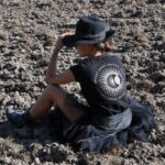 Women's Black Tribal sun T-Shirt