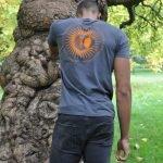Charcoal tribal sun mens t-shirt