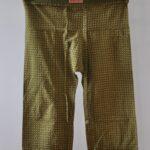 SamPan Olive Green Spot Trousers