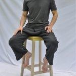 Scuttle Black SamPan Trousers Long Linen
