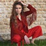 Linen SamPan Trousers red