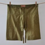 olive cropped trouses