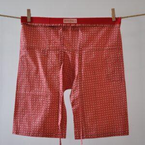 SamPan Long Shorts red