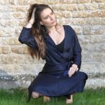 a Japanese style wrap loose fitting dress
